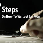7 Steps On How To Write A Sermon