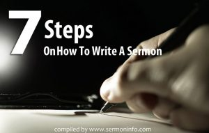 7 Steps On How To Write A Sermon