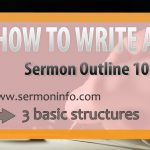 How To Write A Sermon Outline 101